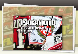 Paranoid 12/13 Doppelausgabe jetzt bestellen!!