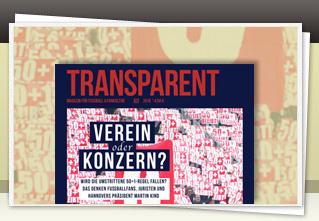 Transparent Magazin 19 jetzt bestellen!!