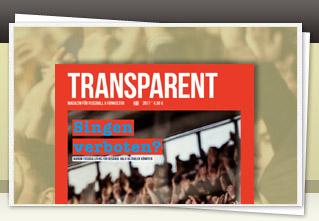 Transparent Magazin 21 jetzt bestellen!!